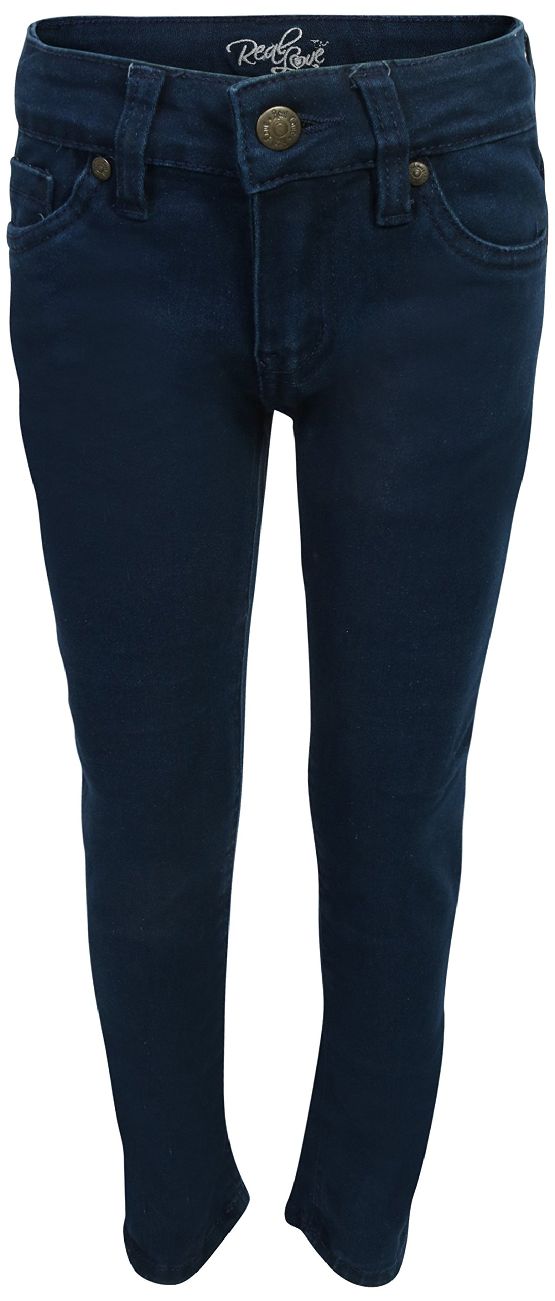 Real Love Girls Skinny Jeans, Black & Blue (2 Pack) Size 6 by Real Love (Image #4)