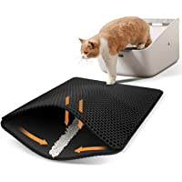 Cat Litter Mat, Cat Litter Trapping Mat, Honeycomb Double Layer Design,Super Soft EVA material, Urine and Water Proof…