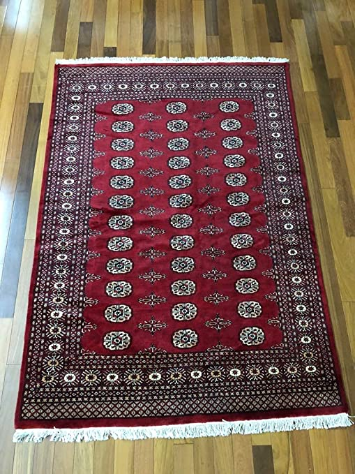 Amazon Com 6 8 X 4 8 Ft Red Hand Knotted Red Bokhara Rug