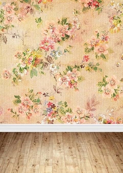 Antico Floreale Sfondo Portafoto Con Interno In Legno Con Fiori Rosa