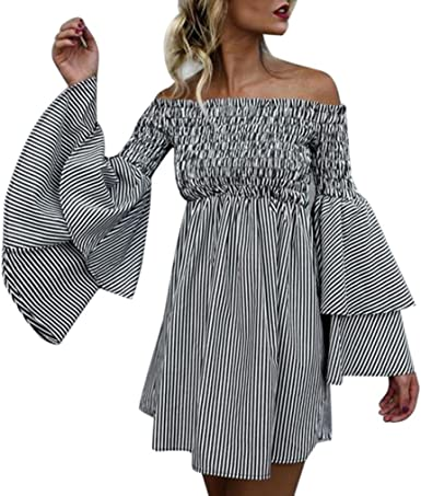 DAY8 Femme Vetements Robe Femme Chic Soiree Courte Cocktail