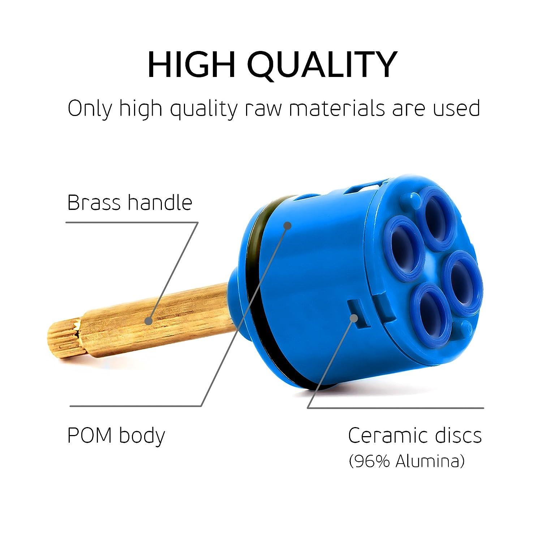 Ceramic Cartridge Universal Replacement Faucet Cartridge 4 Way Panel Disc Cartridge Shower Diverter Cartridge D 37mm Brass Shower Cartridge Ceramic Cartridge Valve Diverter Cartridge 48mm