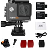 """ThiEYE Original i60e 4K Wifi Action Camera 2"""" HD Screen 197FT Waterproof Video Black Sport Cam 170 Wide Angle APP Control with Full Accessories"""