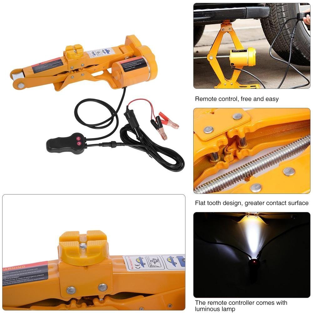 Cric 3T + Boulonneuse GOTOTOP 12V Cric Electrique Levage Losange Voiture Auto SUV 2T//3T avec Boiter de Transport