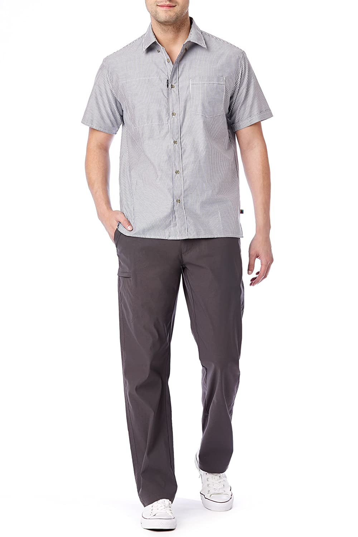 UNIONBAY Mens Rainier Lightweight Comfort Travel Tech Chino Pants Hiking