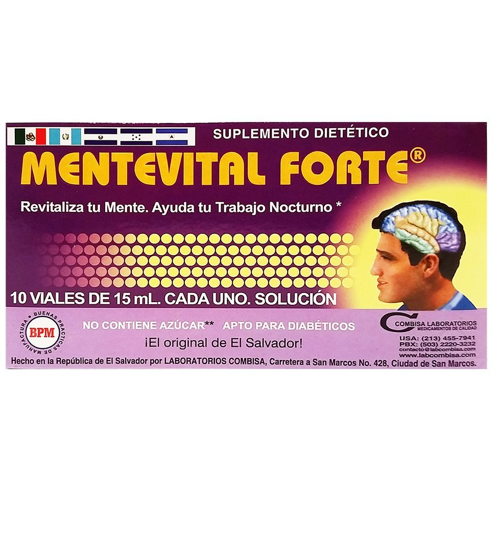 Amazon.com: Mente Vital Forte Drinkables 5 oz fl - Suplemento Multivitaminico (Pack of 6): Health & Personal Care