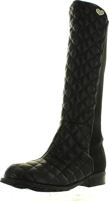 Amazon.com | Stuart Weitzman Girls Youth 5050 Quilt Designer Tall ... : stuart weitzman quilted boots - Adamdwight.com