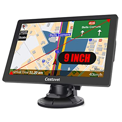 GPS Navigation for Car, 9 inch Big Touchscreen Trucking GPS 8GB SAT NAV System Navigator Turn by Turn Directions Navigation System for Cars Free North America Map Updata Contains USA, Canada, Mexico: GPS & Navigation