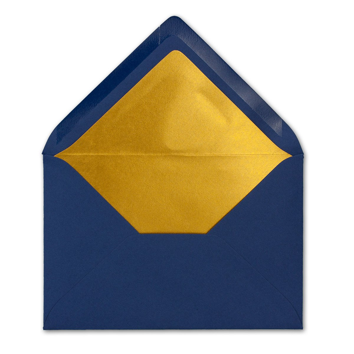 Kuverts in Nachtblau 11,4 x 16,2 cm f/ür Einladungen Matte Oberfl/äche /& Gold-Metallic F/ütterung Brief-Umschl/äge DIN C6-114 x 162 mm ohne Fenster Na/ßklebung 50 St/ück