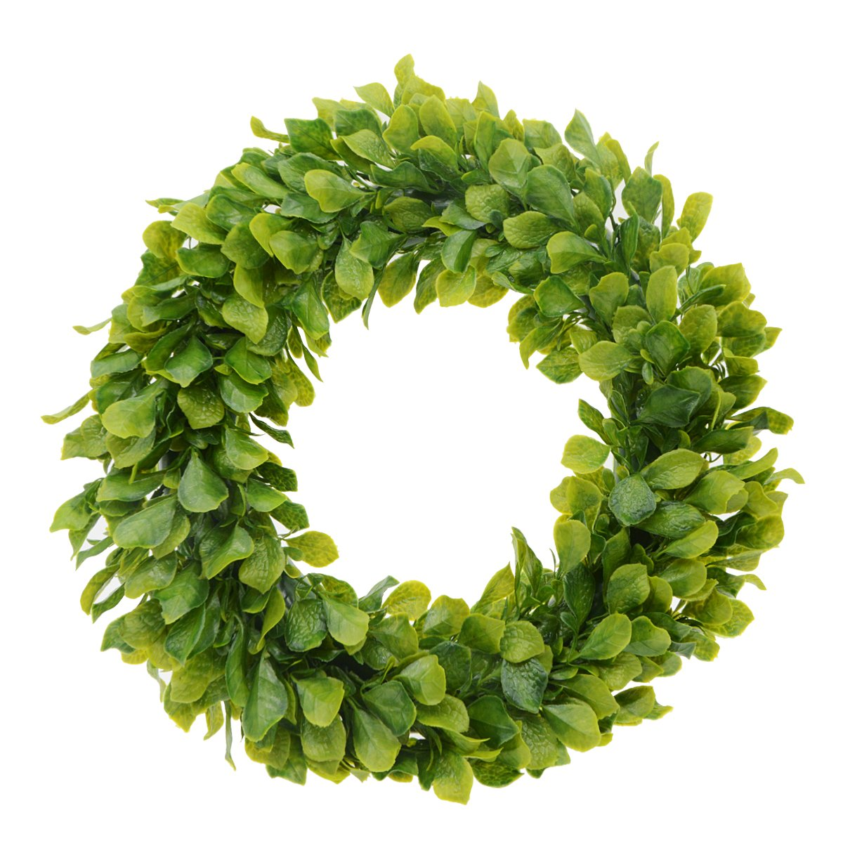 Saim 15''-16'' Artificial Round Wreath Spring Front Door Wreath Garland Home Office Wall Wedding Decor
