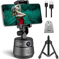 Webcam 1080P Auto Face Tracking con micrófono trípode y cubierta de privacidad, rotación de 360° soporte de teléfono…