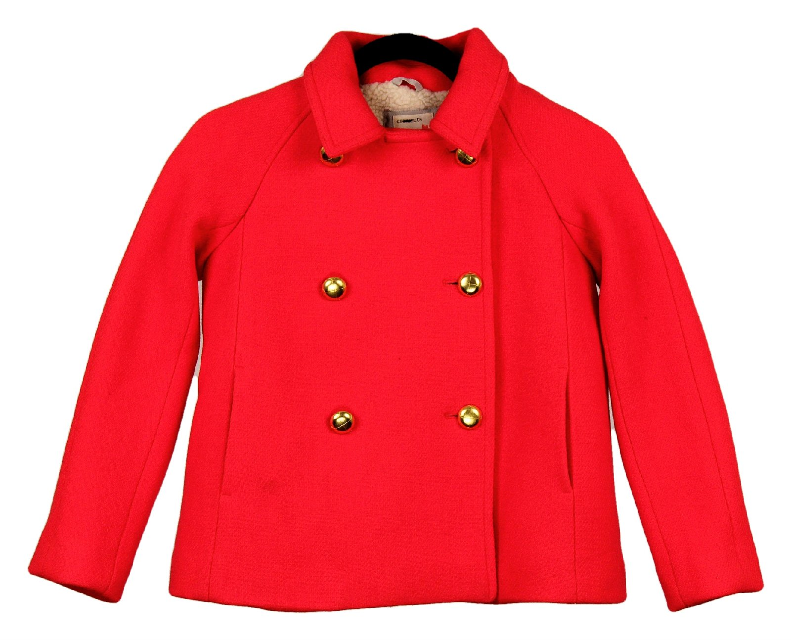 J Crew Crewcuts Girls' Short Peacoat Red Size 10