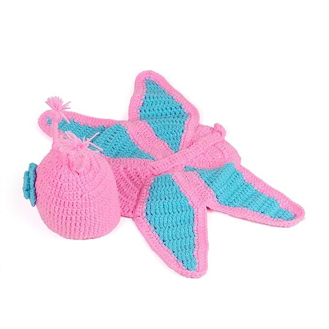 Kinder Baby Strick Mütze Fotoshooting Neugeborene Schmetterling ...
