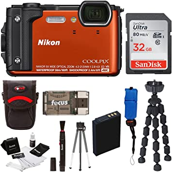 Amazon.com: Nikon Coolpix W300 Cámara Digital (Naranja) con ...