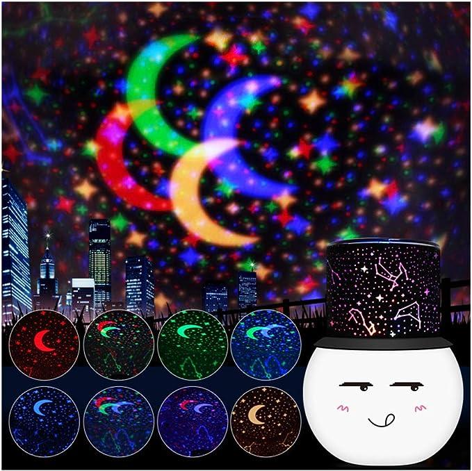 CBA BING Noche de proyector de Estrella Linda Cara Redonda pequeña ...