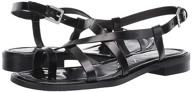 d8a99a8a105 Amazon.com | Calvin Klein Women's Tica Flat Sandal | Sandals