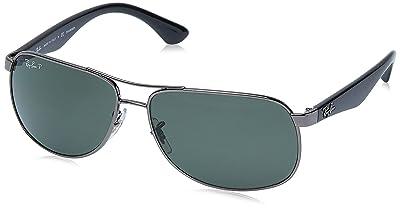 Ray-Ban Men's Rb3502 Metal Aviator Sunglasses