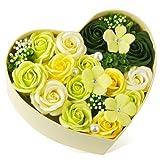 敬老の日 バラ型ソープフラワー ハートフラワー形状ギフトボックス 誕生日 母の日 記念日 先生の日 バレンタインデー 昇進 転居など最適としてのプレゼント
