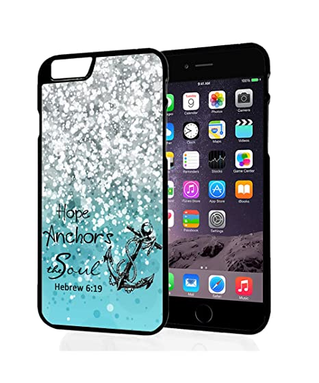 IPhone 6S Plus Case,Hope Anchor Hebrews 6:19 Bible Verse Quotes Hard Plastic