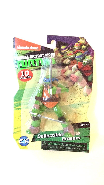 amazon com tmnt collectible puzzle erasers leonardo toys u0026 games