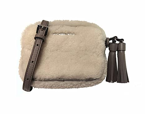 4ce5cd166774 Image Unavailable. Image not available for. Color: Michael Kors Jet Set  Travel Small Chain Crossbody Fur Shearling ...