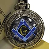 Sigma Impex P-293 Compass SQ Masonic Pocket Watch