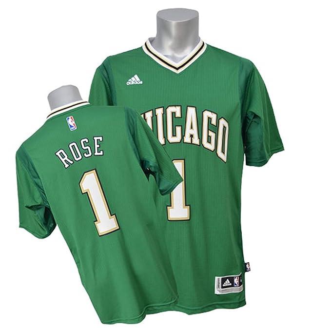 b3b22a9e9bf ... best derrick rose 1 chicago bulls adidas green st. patricks day  swingman adult jersey 80dab