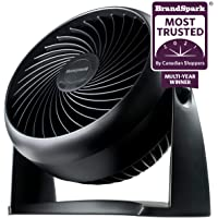 "Honeywell HT900C TurboForce® 7"" Power Air Circulator, Black, with 90 Degree Head Pivot, Eco-Friendly, and Easy to Use…"