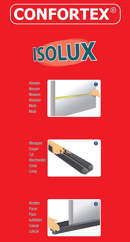 95cm x 10,5cm x 3cm CONFORTEX 17023 Double Isolation de Porte ISOLUX Poly/éthyl/ène Brun