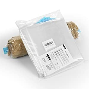 Becko Vacuum Space Saver Bags 8 Pieces Travel Roll Up Bag Size in 28 x 20 Inches & 24 x 16 Inch