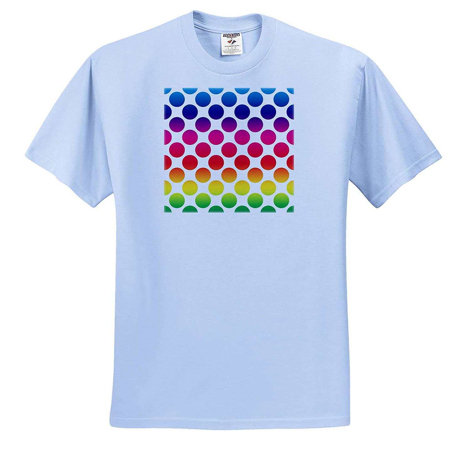 Image of Neon Blue Red Green and Yellow Polka Dots 3dRose Lens Art by Florene Polka Dots Adult T-Shirt XL ts/_320801