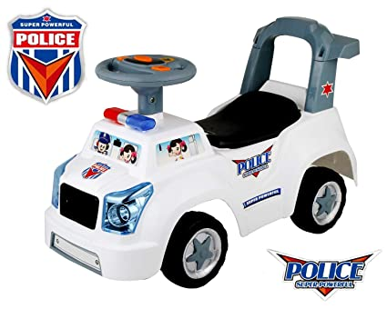 Amazon Com Poco Divo Police Car 3 In 1 Baby Walker Toddler Ride On