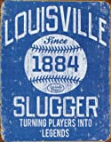 Louisville Slugger - Blue Tin Sign 13 x 16in