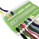 D&D Floss Organizer Embroidery Kit Cross Stitch Tool, 30 Positions Thread Organizers, Plastic & Foam, Green