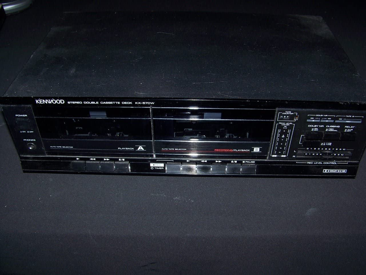Kenwood KX-57CW Stereo Dual Cassette Deck Player Recorder