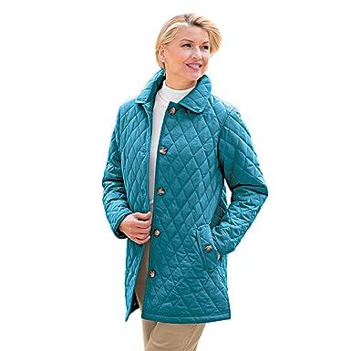 8db56fd55053d Blair Women s Plus Size Quilted Car Coat - XL Larkspur at Amazon ...