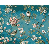Paint by Numbers-DIY Digital Canvas Oil Painting Adults Kids Paint by Number Kits Home Decorations-Flower and Birds 16…
