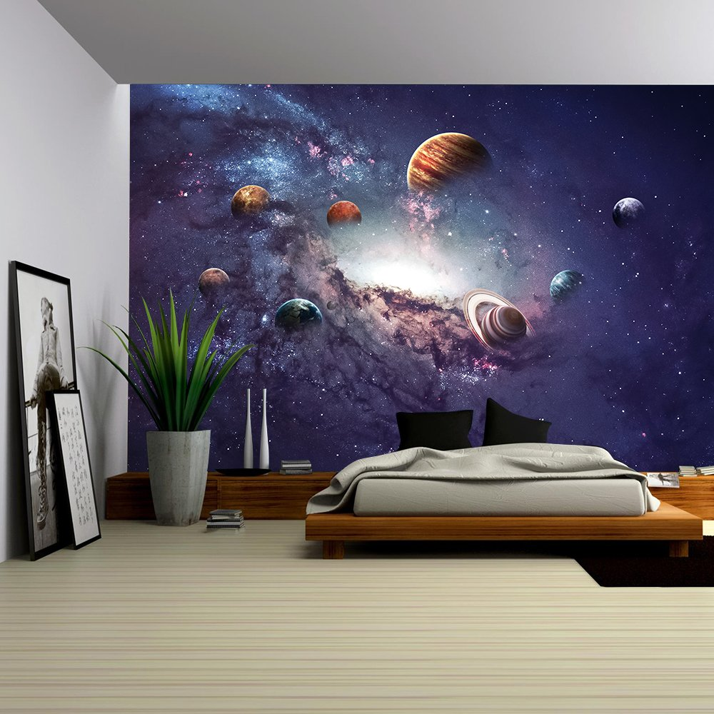 wall26 - High Resolution Images Presents Creating Planets of the Solar System. - Removable Wall Mural | Self-adhesive Large Wallpaper - 66x96 inches