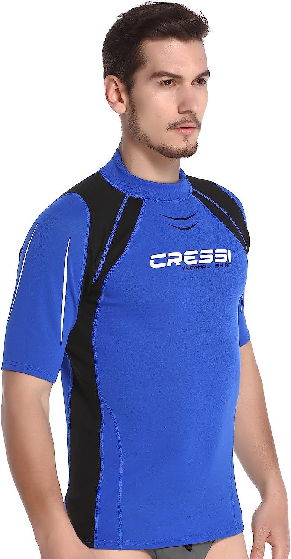 Cressi Thermo Vest Man Short SL Maillot /Élastique Thermique Manches Longues ou Courtes Homme