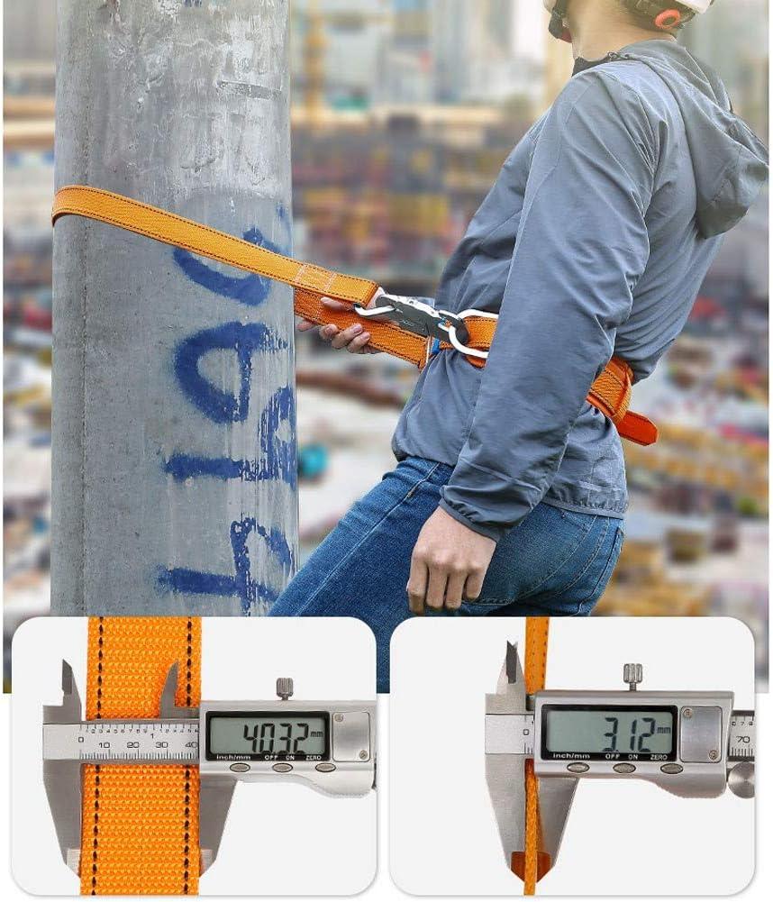 RSHJD Harnais de S/écurit/é Antichute R/églable Ceinture de S/écurit/é Antid/érapant et R/ésistant /à lusure Construction Industrielle Orange