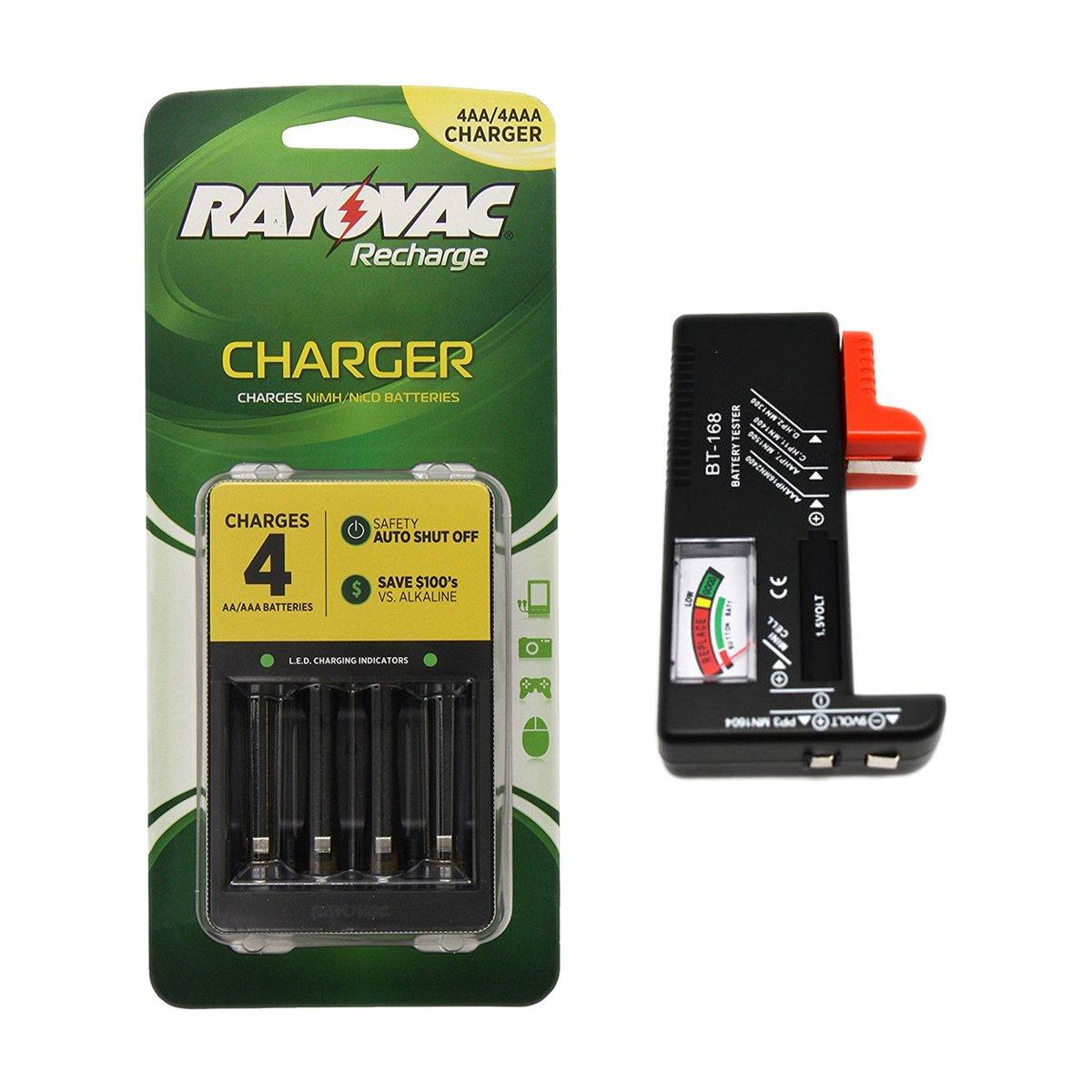 Amazon.com: Rayovac 4 Posición Cargador de batería, AA/AAA ...