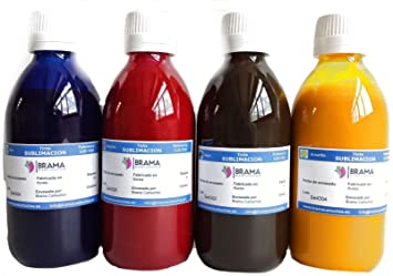 4 X Botes DE 250ML DE Tinta DE SUBLIMACIÓN. Compatible con IMPRESORAS EPSON DE 4 Colores BRAMACARTUCHOS (Pack de 4 Colores)