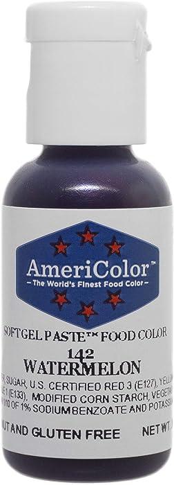 AmeriColor Food Coloring, Watermelon Soft Gel Paste, .75 Ounce