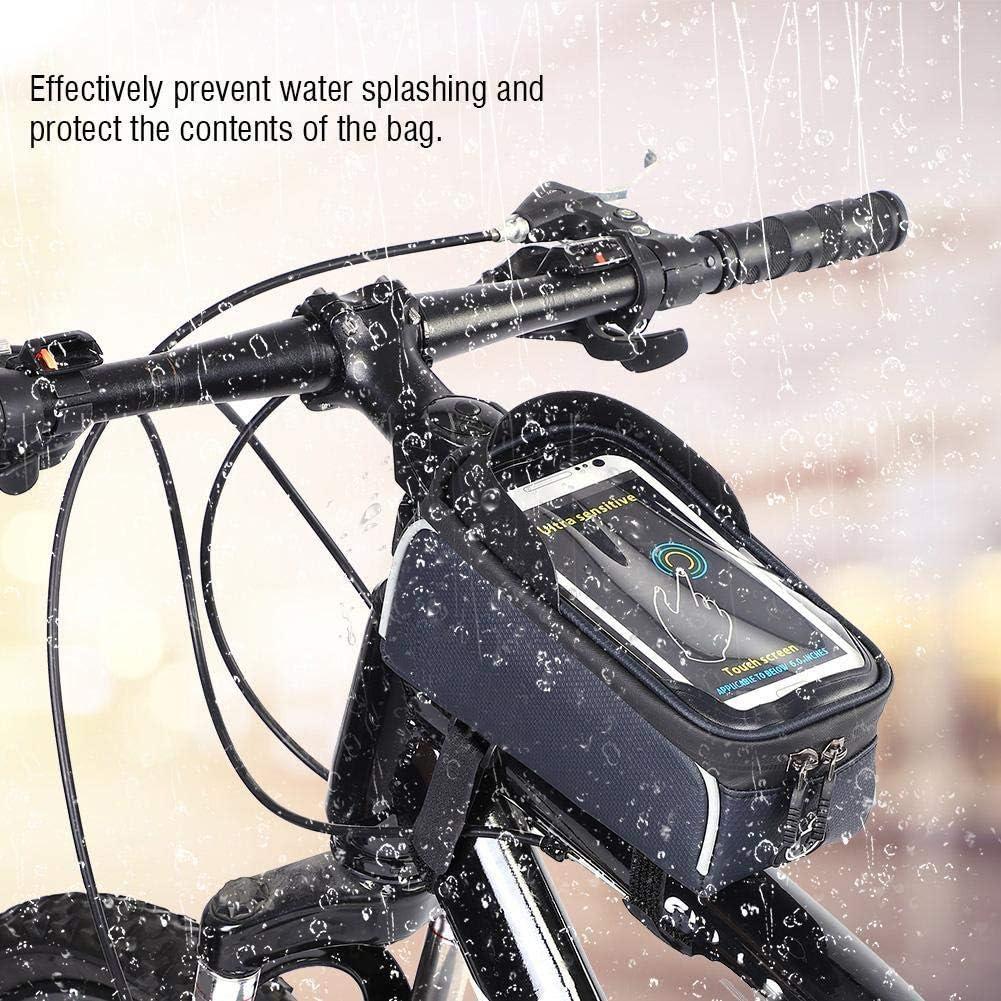 Bike Cell Phone Bag Bike Frame Bag with Waterproof Front Top Tube Touch Screen for Mountain Bike Road Bike.