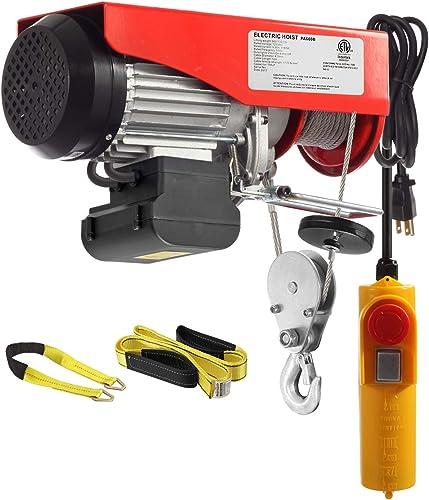 Partsam 1320 lbs Lift Electric Hoist Crane Remote Control Power System