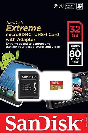 SANDISK Tarjeta de memoria microSDHC UHS-I-32 GB, clase 10 ...