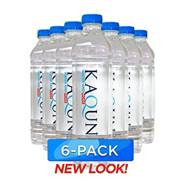 660821c0b5 KAQUN Water 6-Pack, Oxygenated & Refreshing, Oxygen Infused Bottled  Drinking Water,