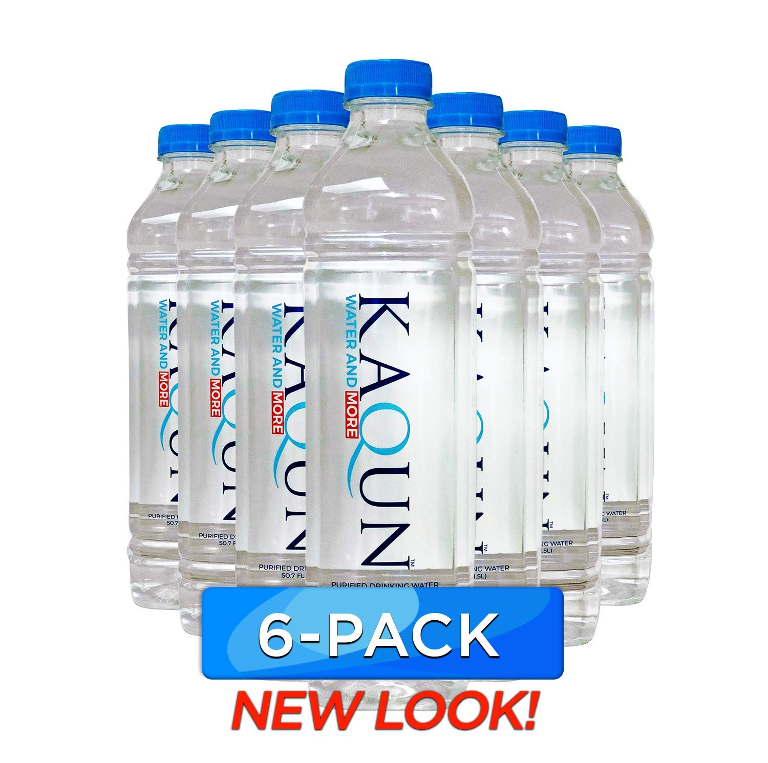KAQUN Water 6-Pack, Oxygenated & Refreshing, Oxygen Infused Bottled Drinking Water, Chemical Free, Detox, for Kaqun Therapy, Authorized Retailer