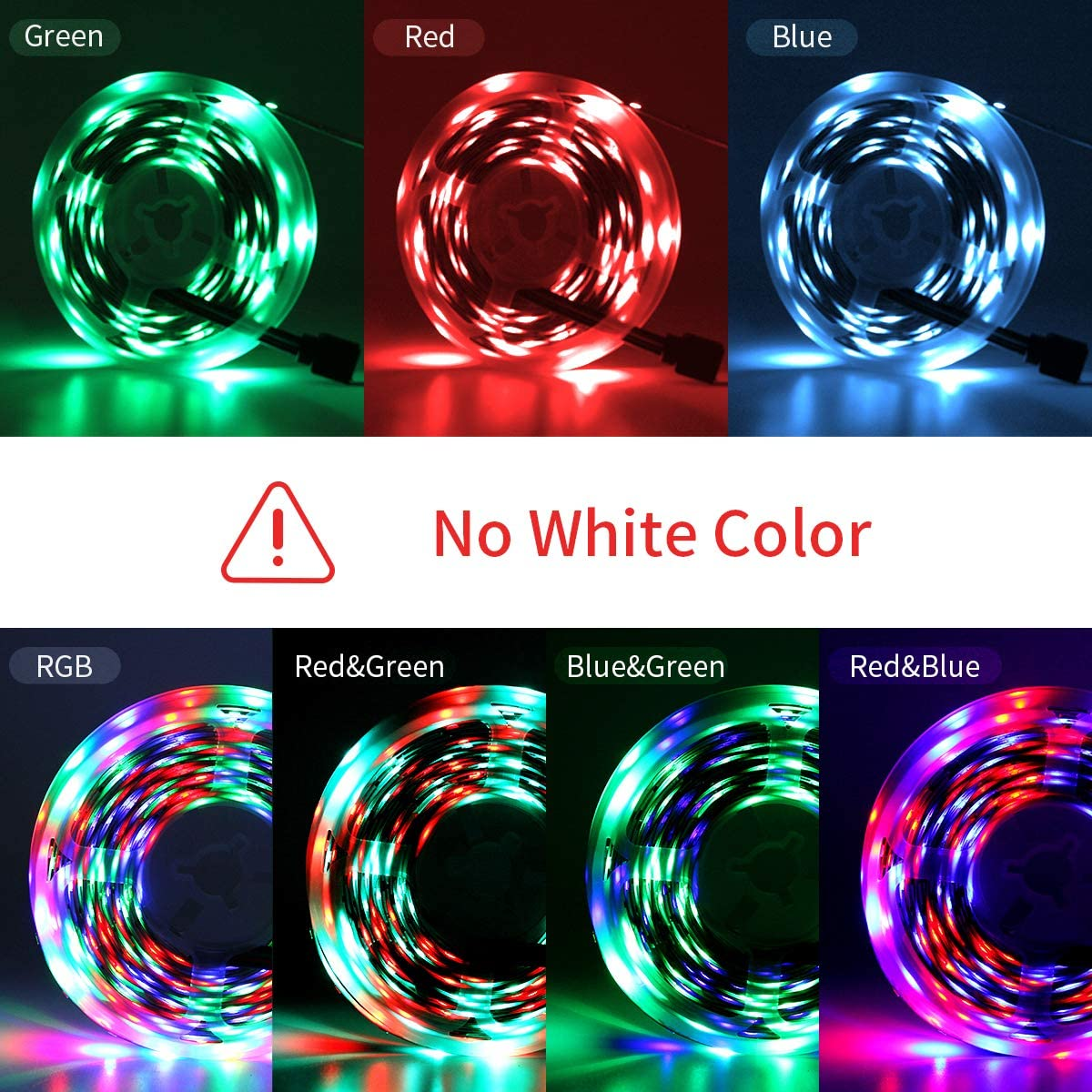 16.4ft RGB Color Changing 3528 300LEDs Non-Waterproof Flexible LED Tape Light Kit with 24 Key IR Remote Controller and 12V Power Supply for Room PHOPOLLO LED Strip Lights Bedroom and Xmas