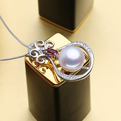 CS-DB Jewelry Silver Pearl Romantic Chain Charm Pendants Necklaces